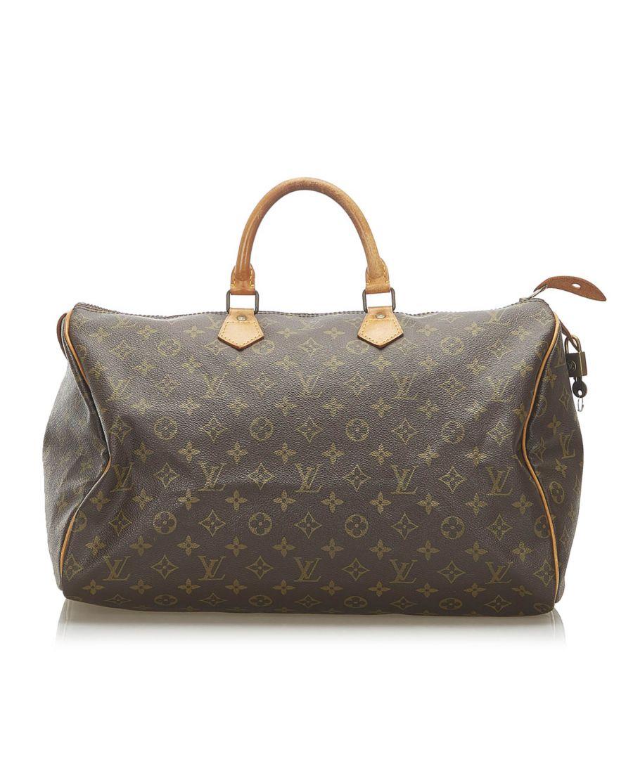 Image for Vintage Louis Vuitton Monogram Speedy 40 Brown