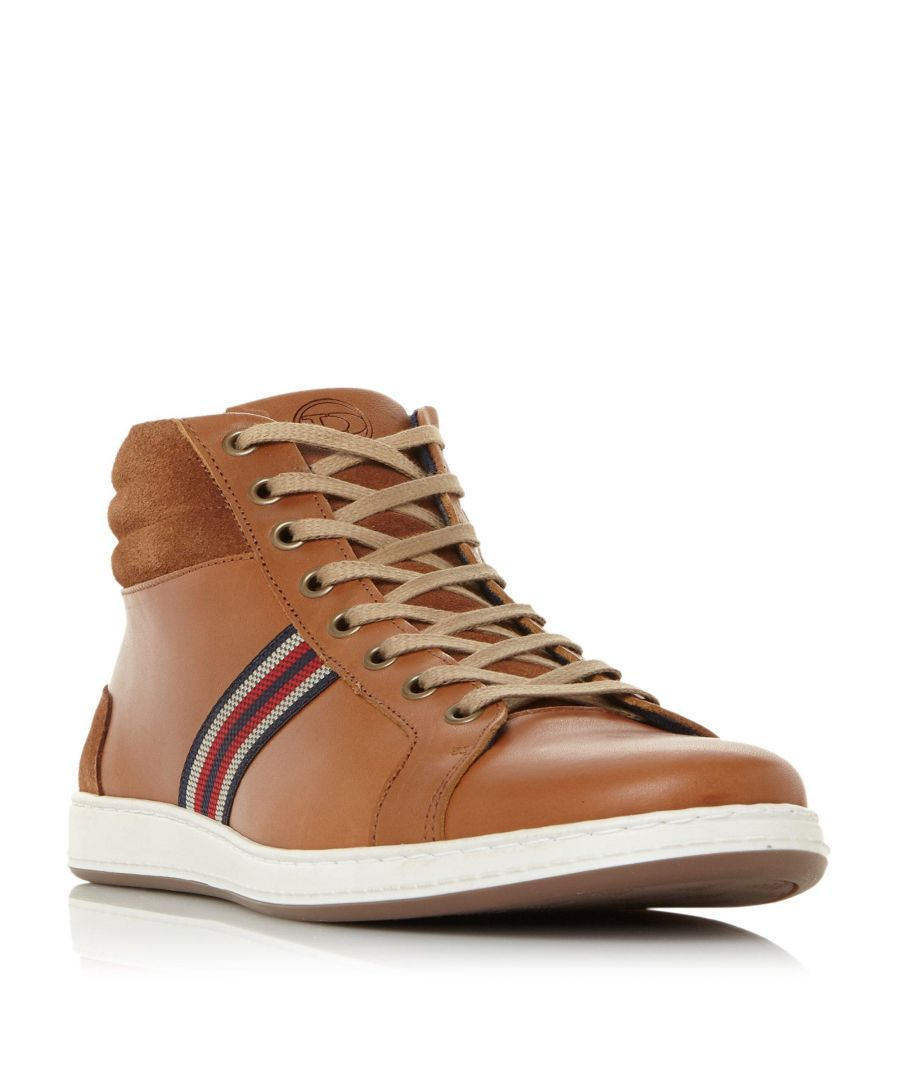 Image for Dune Mens VANCOUVER Textured Panel High Top Trainer
