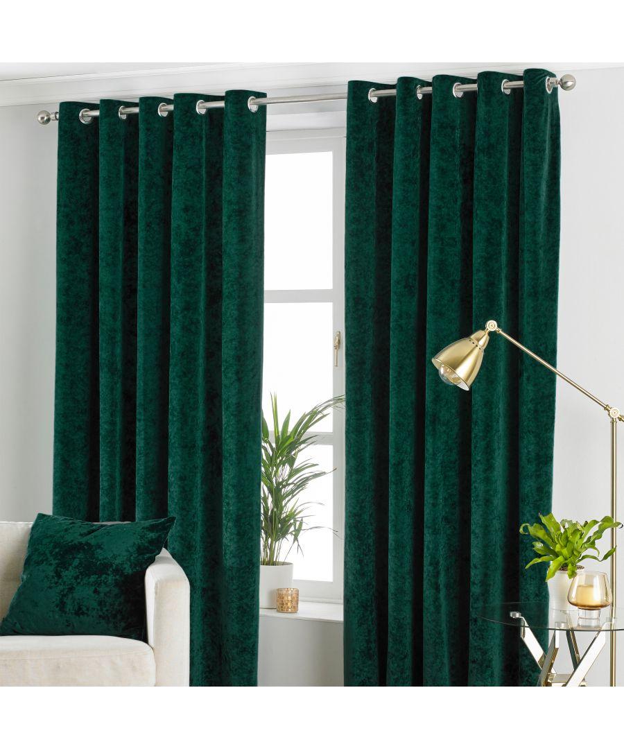 Image for Verona Crushed Velvet Eyelet Curtains