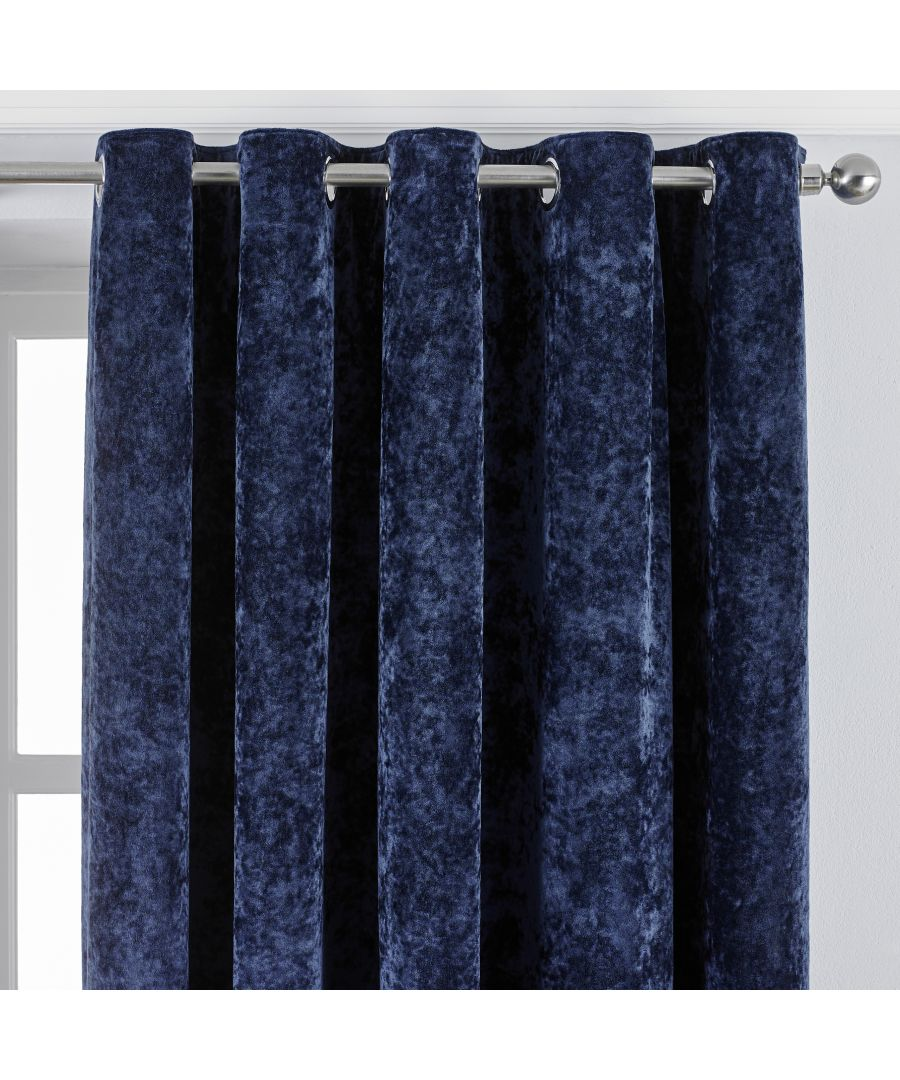 Image for Verona Crushed Velvet Eyelet Curtains