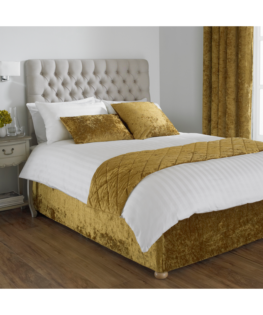 Image for Verona Bed Wrap King Ochre