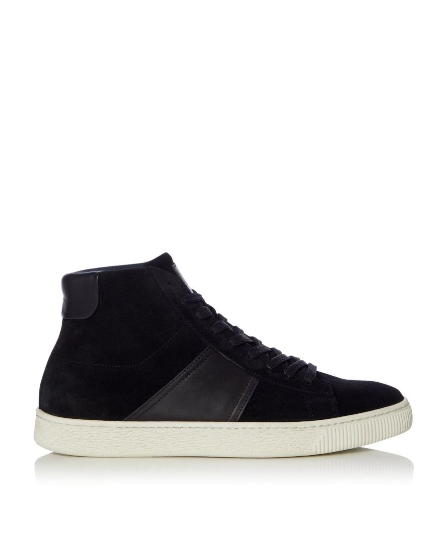 Image for Dune Mens VISER Panelled High Top Trainers