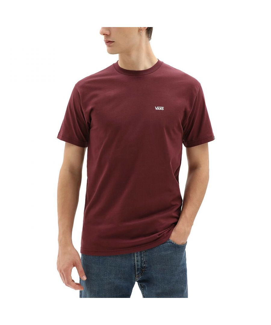 Image for Vans Men's Left Chest Logo T-Shirt in Port Royale/White