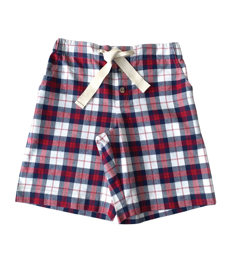 Image for Unisex Red Check Lounge Shorts