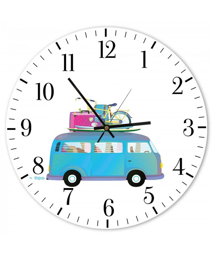 Image for Wall Clock - Holidays By Minivan Cm. 40x40