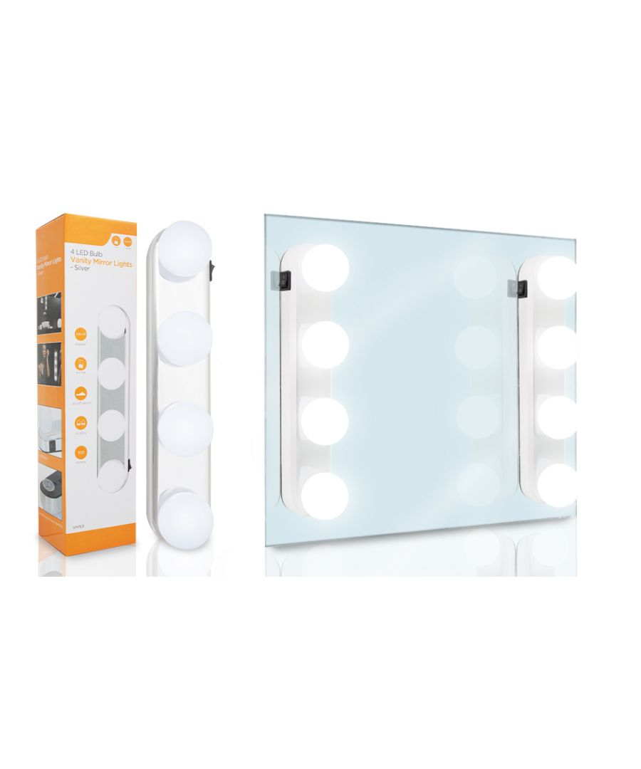 Image for Haven 4 Led Bulb Vanity Mirror Lights - White