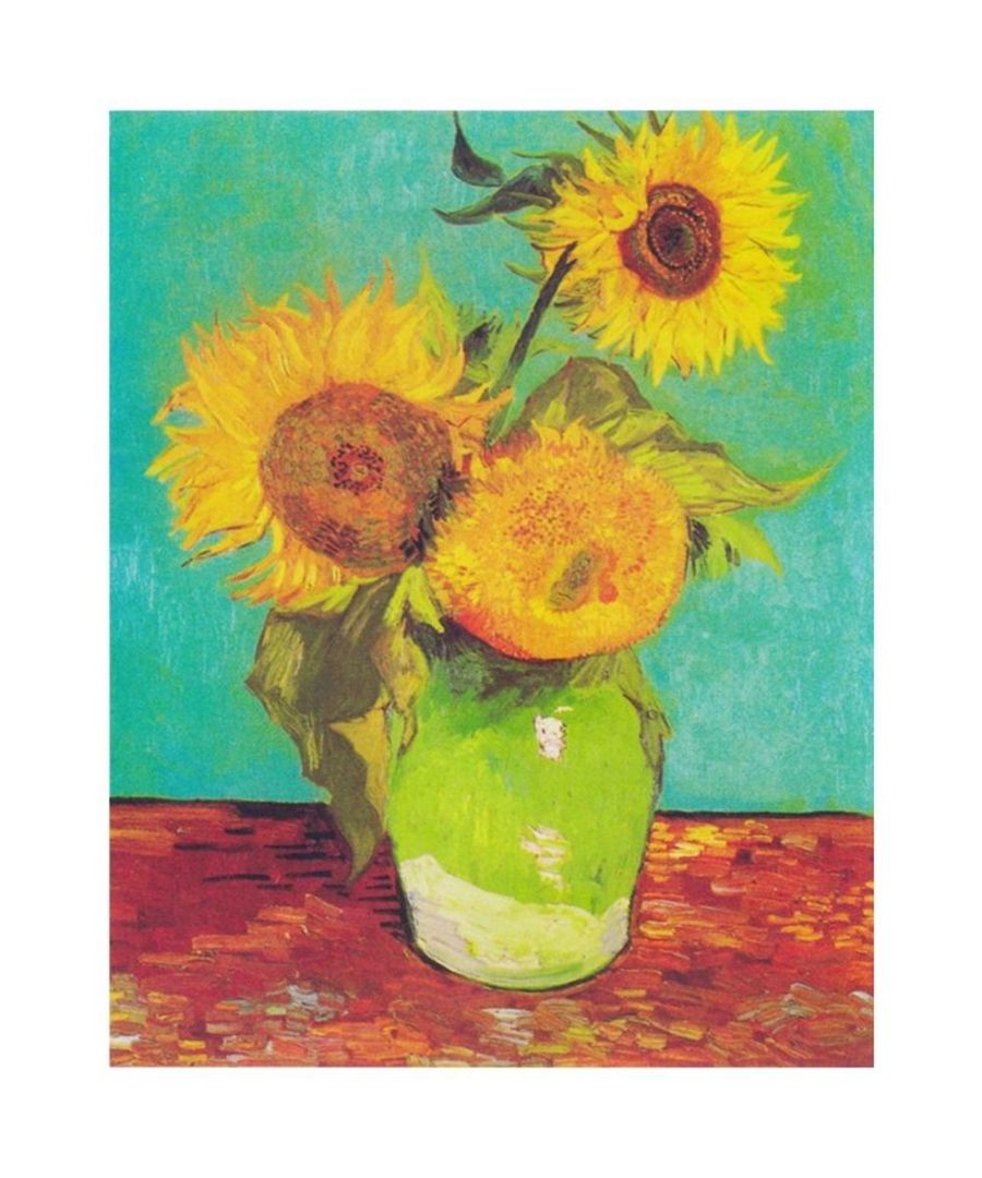 Image for Canvas Print - Three Sunflowers - Vincent Van Gogh Cm. 80x100