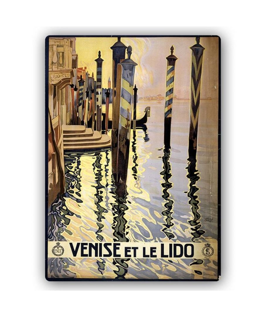 Image for Vintage Tourist Poster - Metal Print  - Venise Et Le Lido