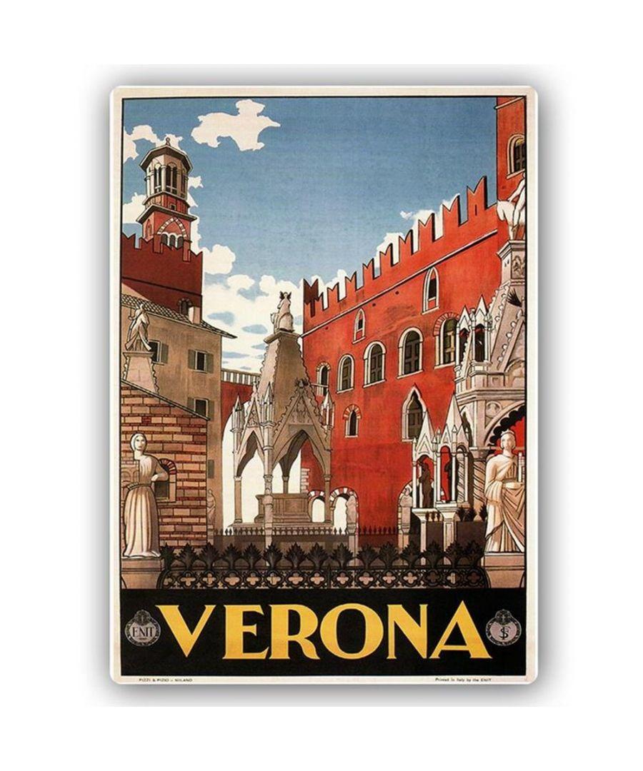 Image for Vintage Tourist Poster - Metal Print  - Verona