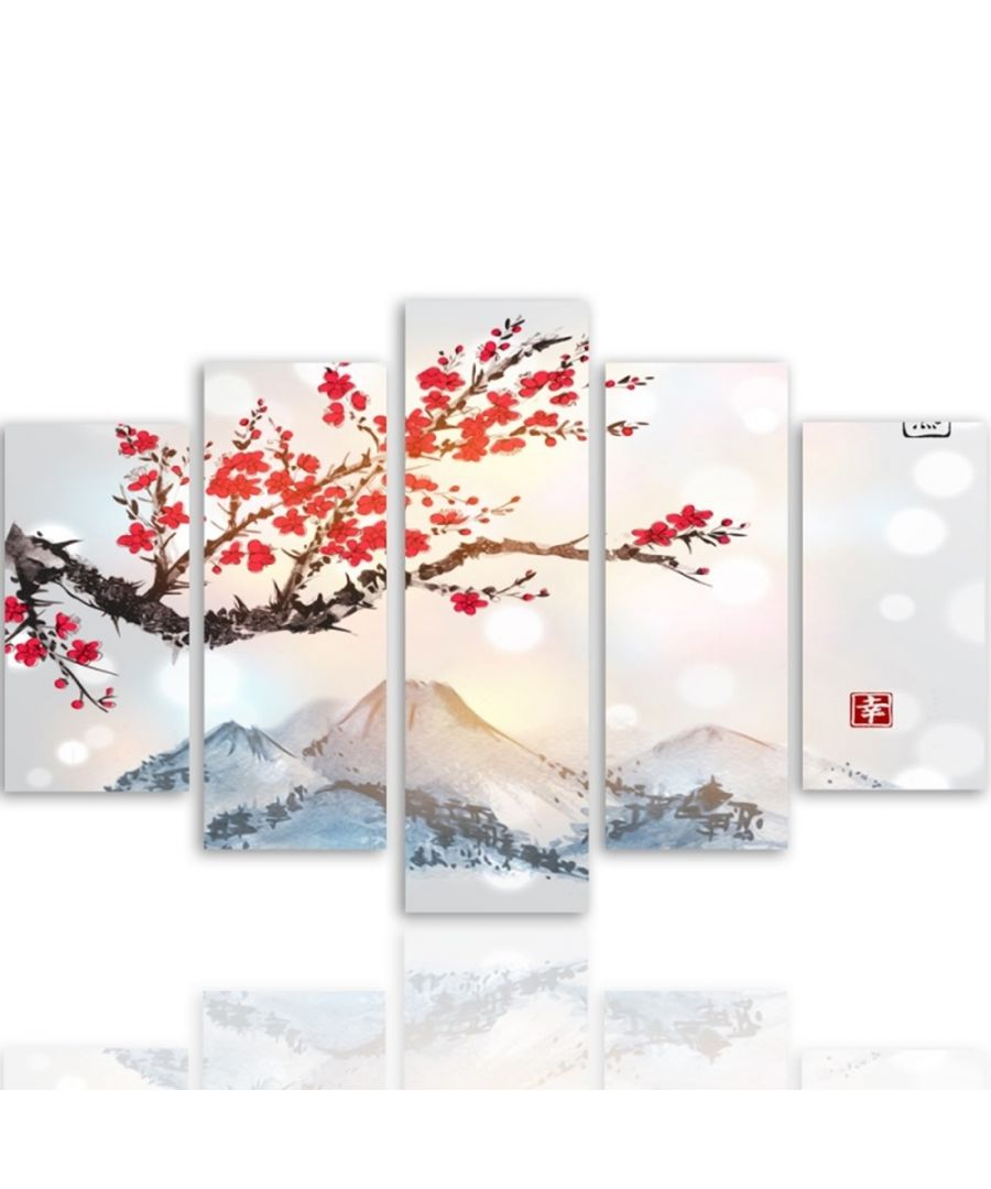 Image for Canvas Print - Snowy Peaks In Spring Cm. 150x100 (5 Panels)