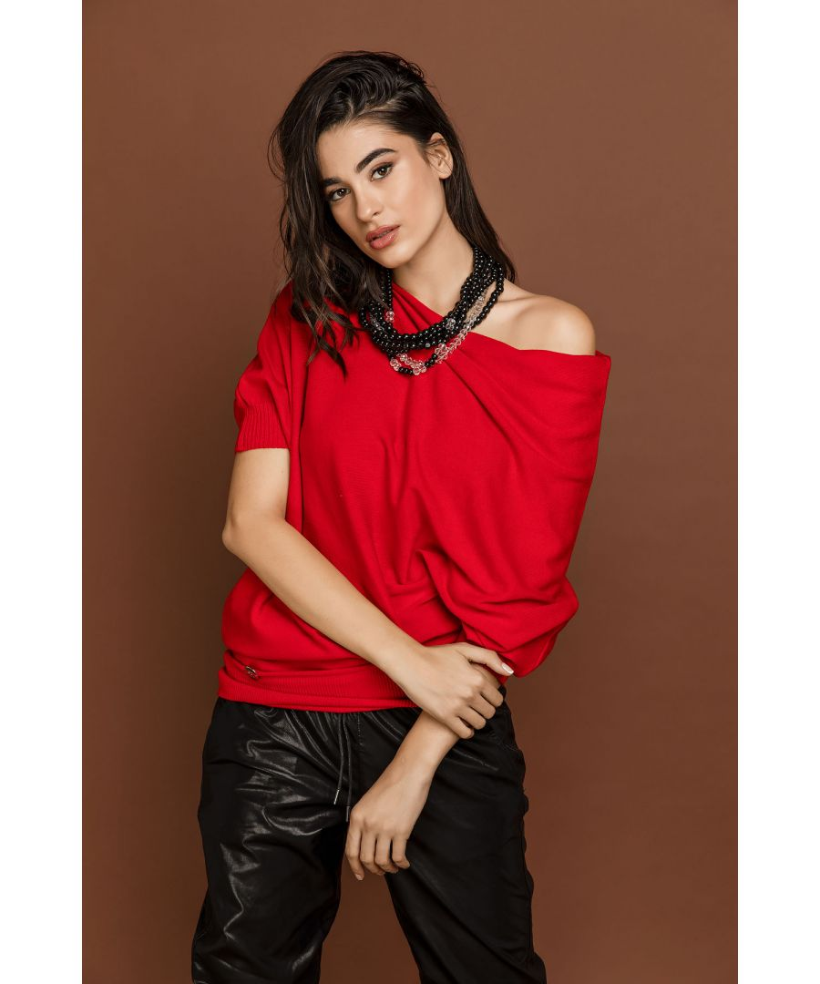 Image for Red Batwing Top