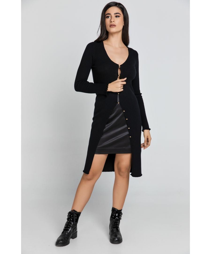 Image for Long Black Knit Cardigan