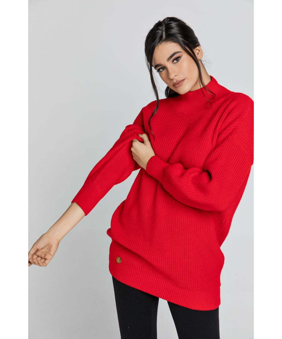 Image for Oversized Red Pullover