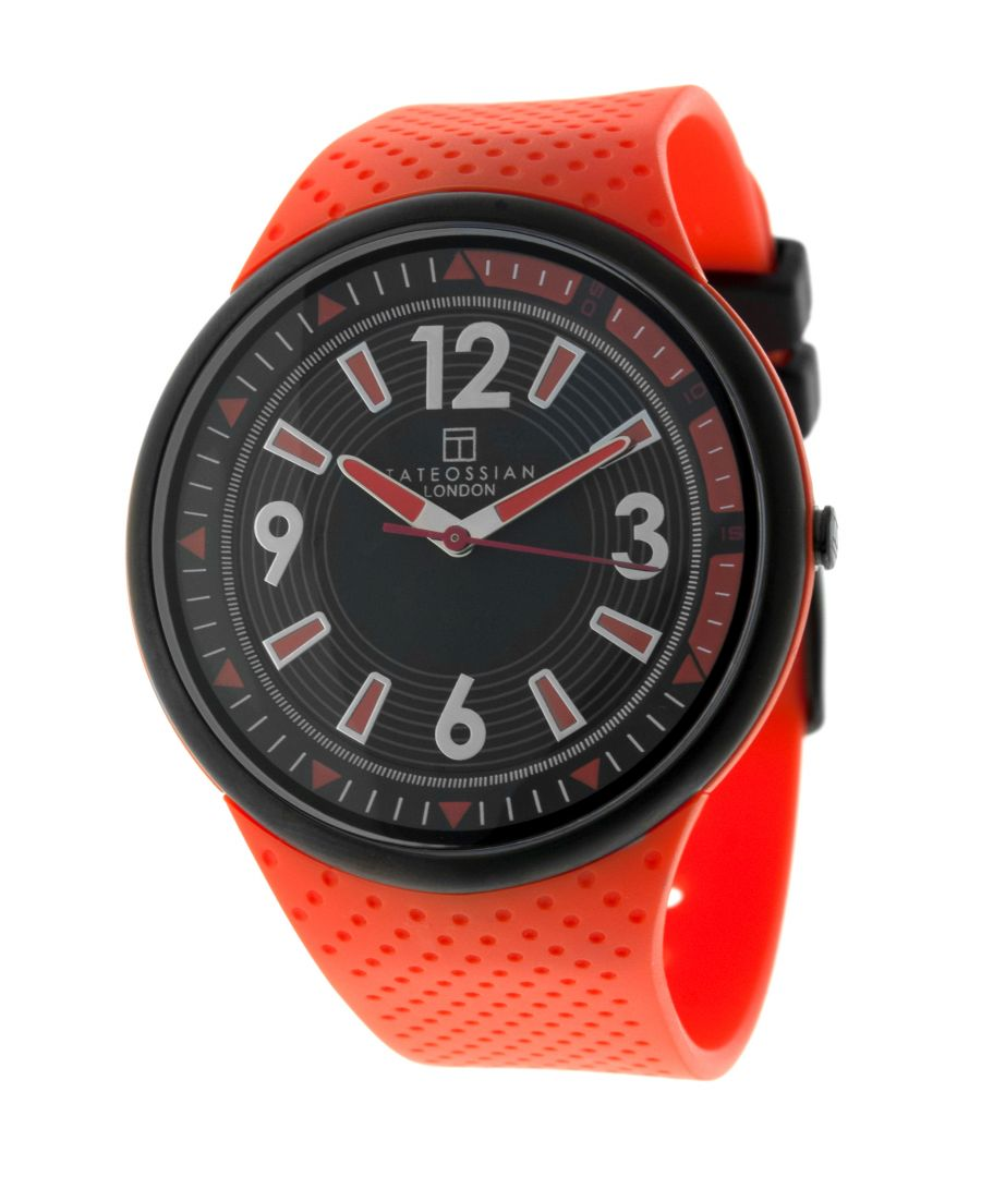 Image for Stainl Steel  Rubber PU  Orange  2035 Japan movement 10ATM   Racing Time