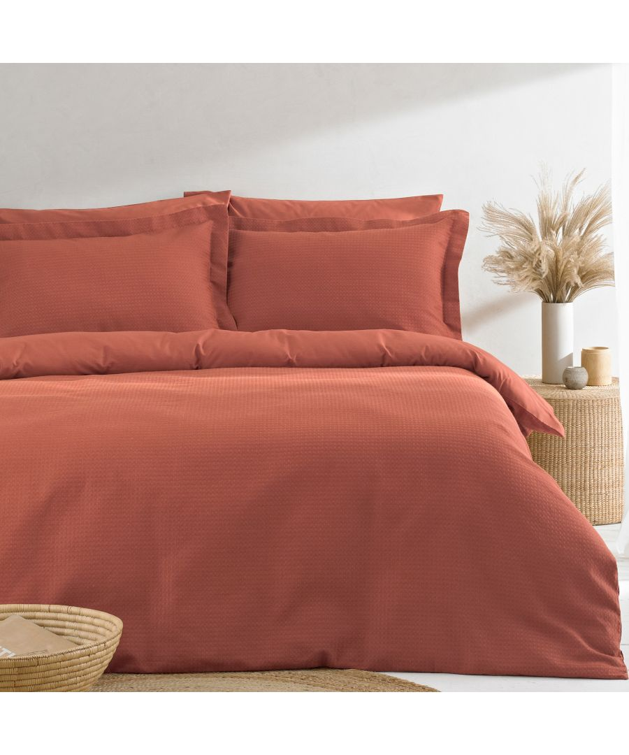 Image for Waffle SKing Duvet Set Red Clay
