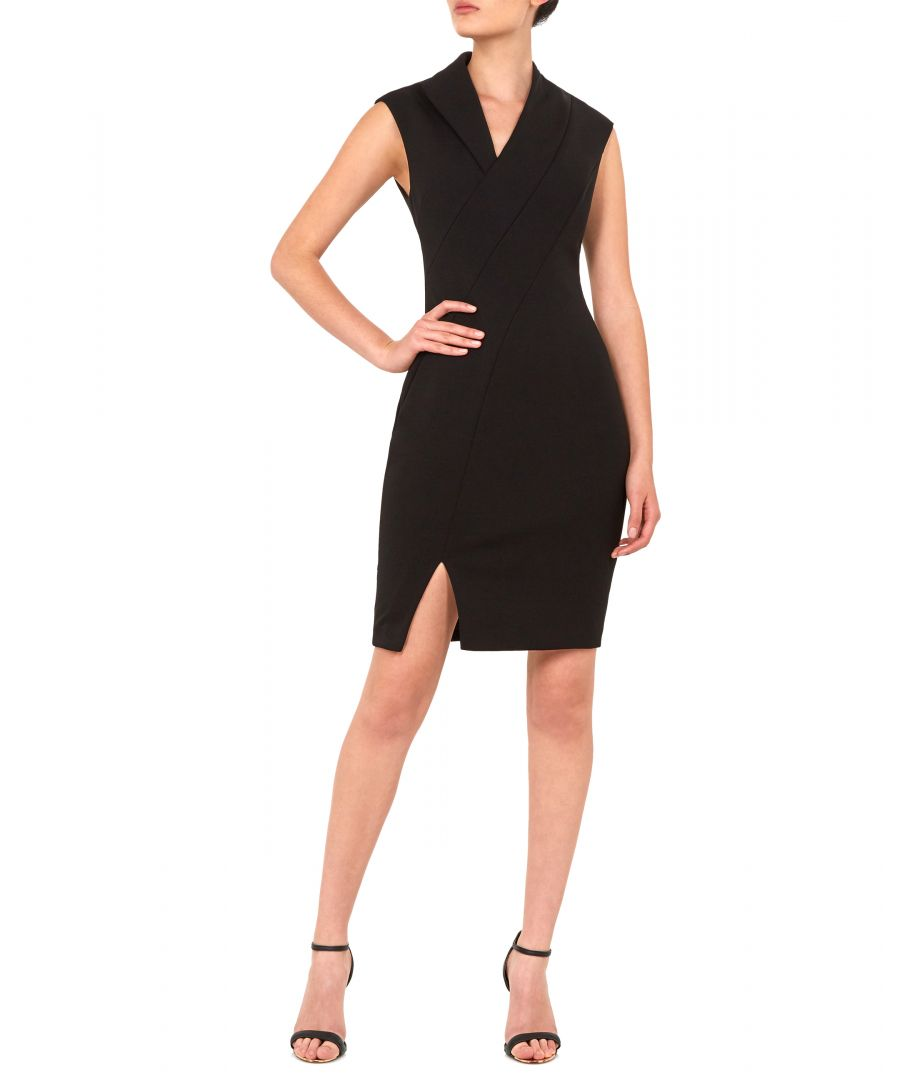 Image for Ted Baker Geodese Wrap Front Pencil Dress, Black