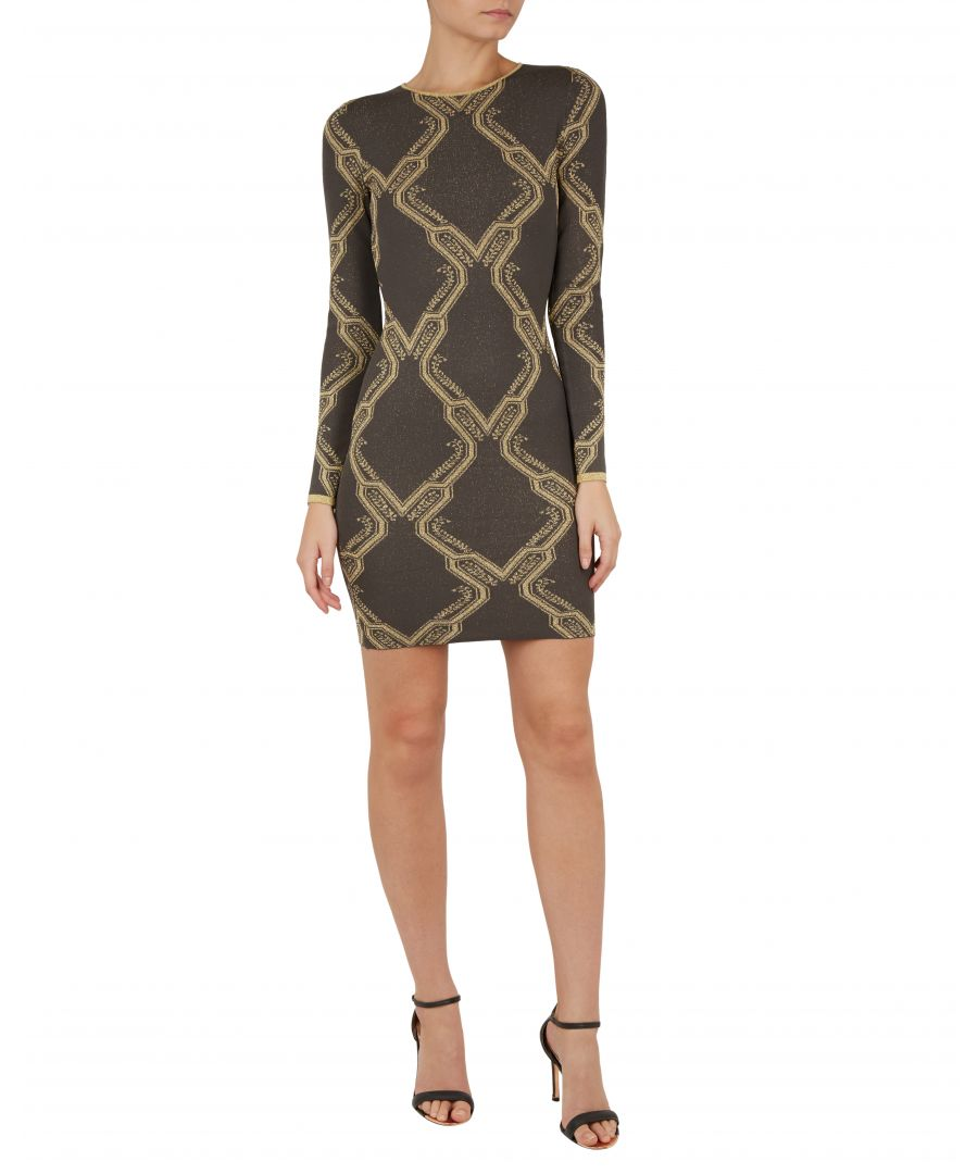Image for Ted Baker Hiliya Ice Palace Knitted Dress, Charcoal