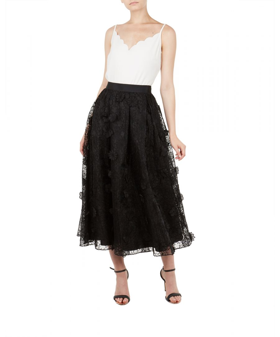 Image for Ted Baker Lovella Ankle Length Full Skirt, Black