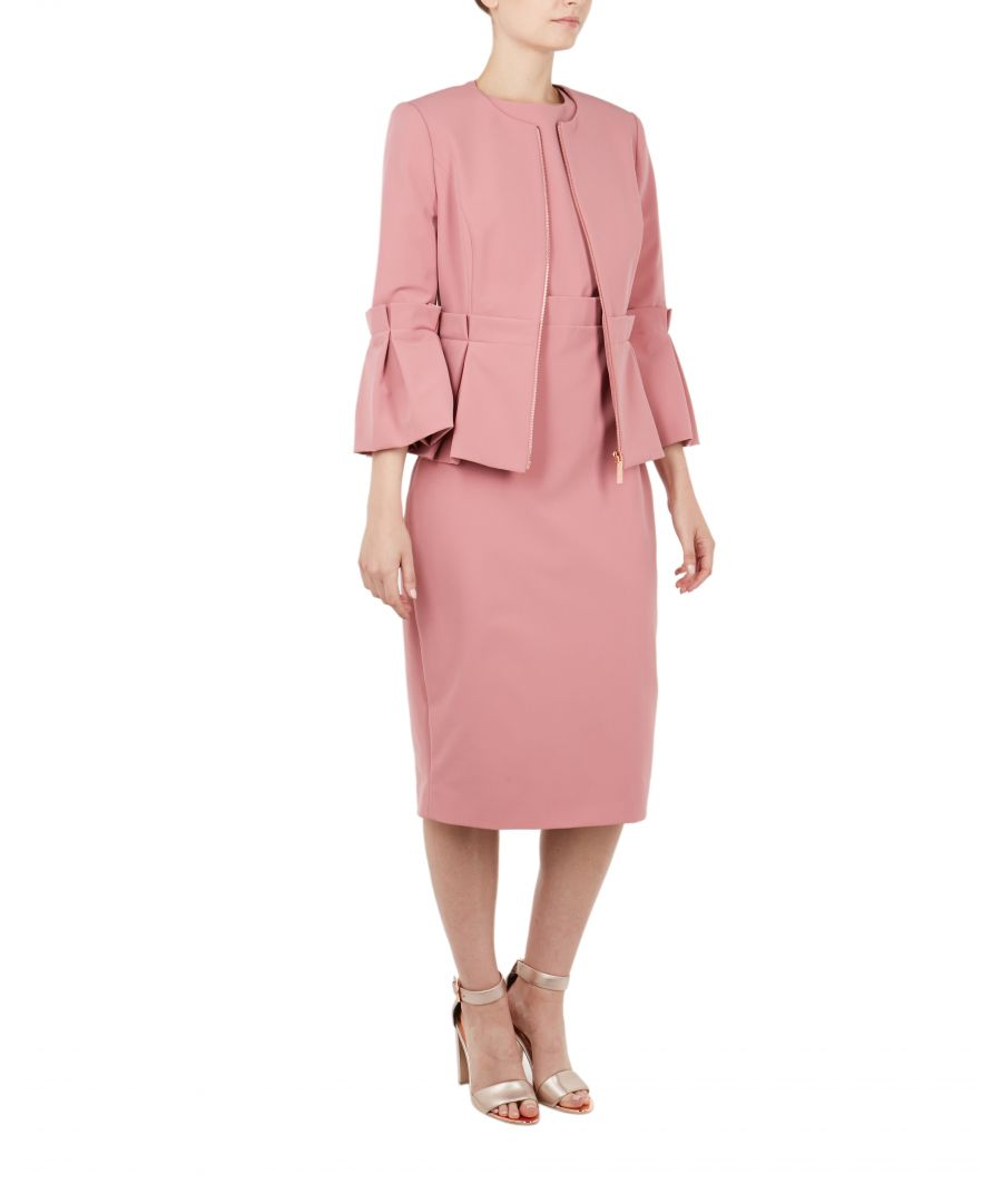 Image for Ted Baker Maggi Peplum Crop Sleeve Jacket, Coral