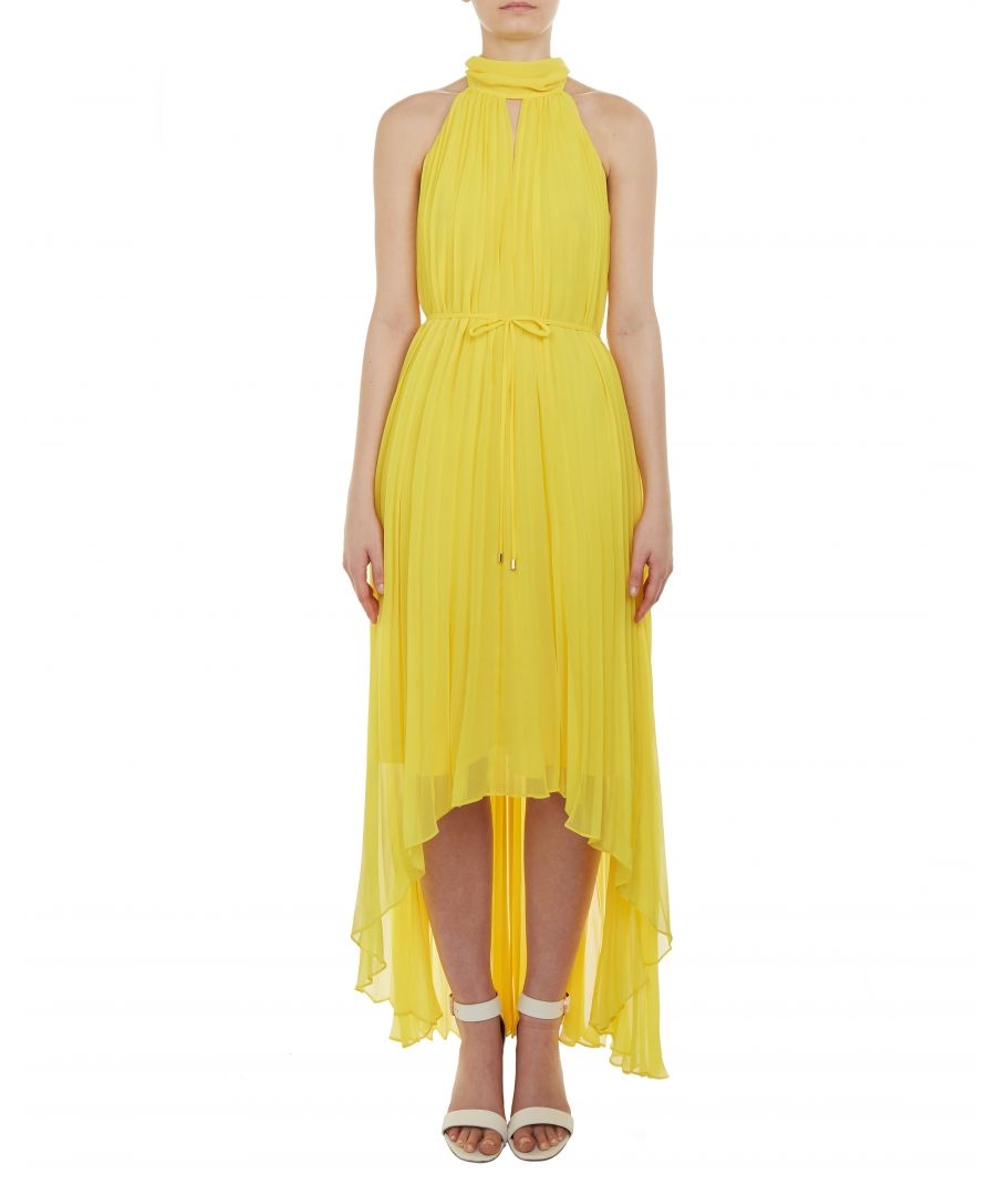Image for Ted Baker Nadette Pleated Collar Maxi Dress, Yellow