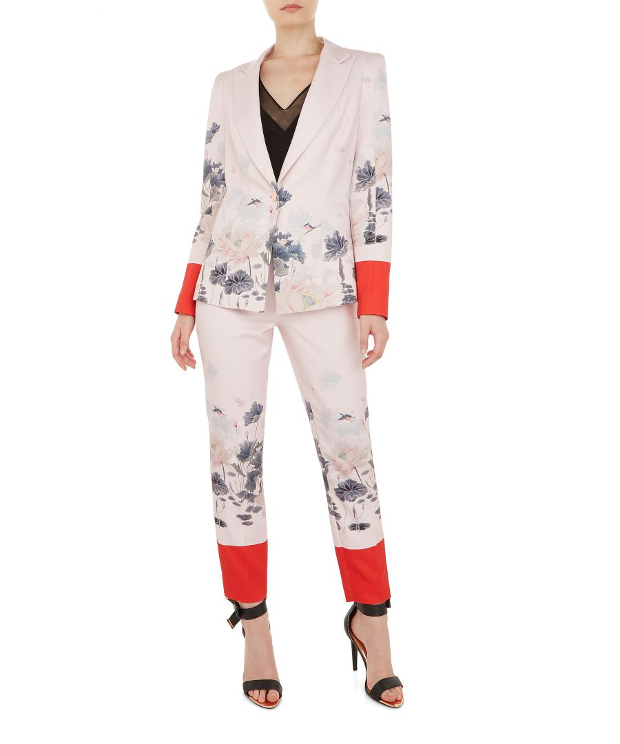 Image for Ted Baker Naimht Lake Of Dreams Tailored Trousers, Pink
