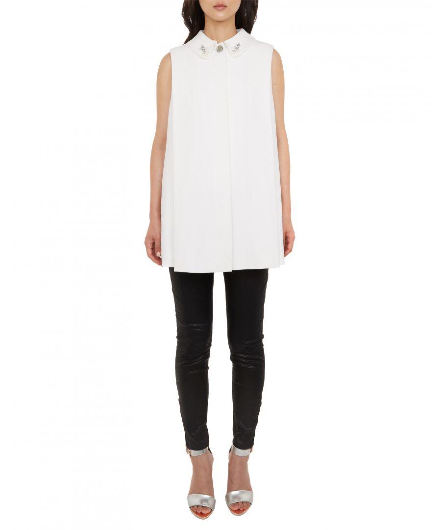 Image for Ted Baker Nayya Sleeveless Embellished Coat, White