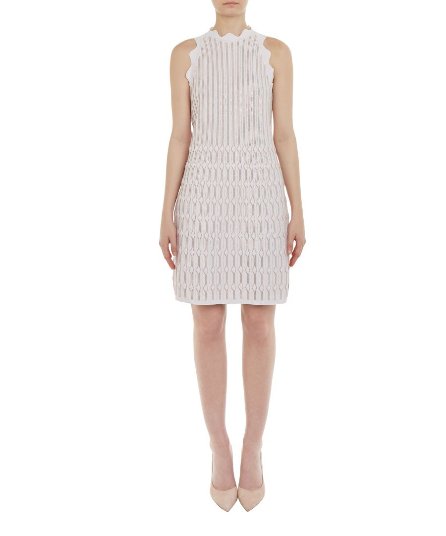 Image for Ted Baker Owstie Detailed Knitted Dress, Light Pink