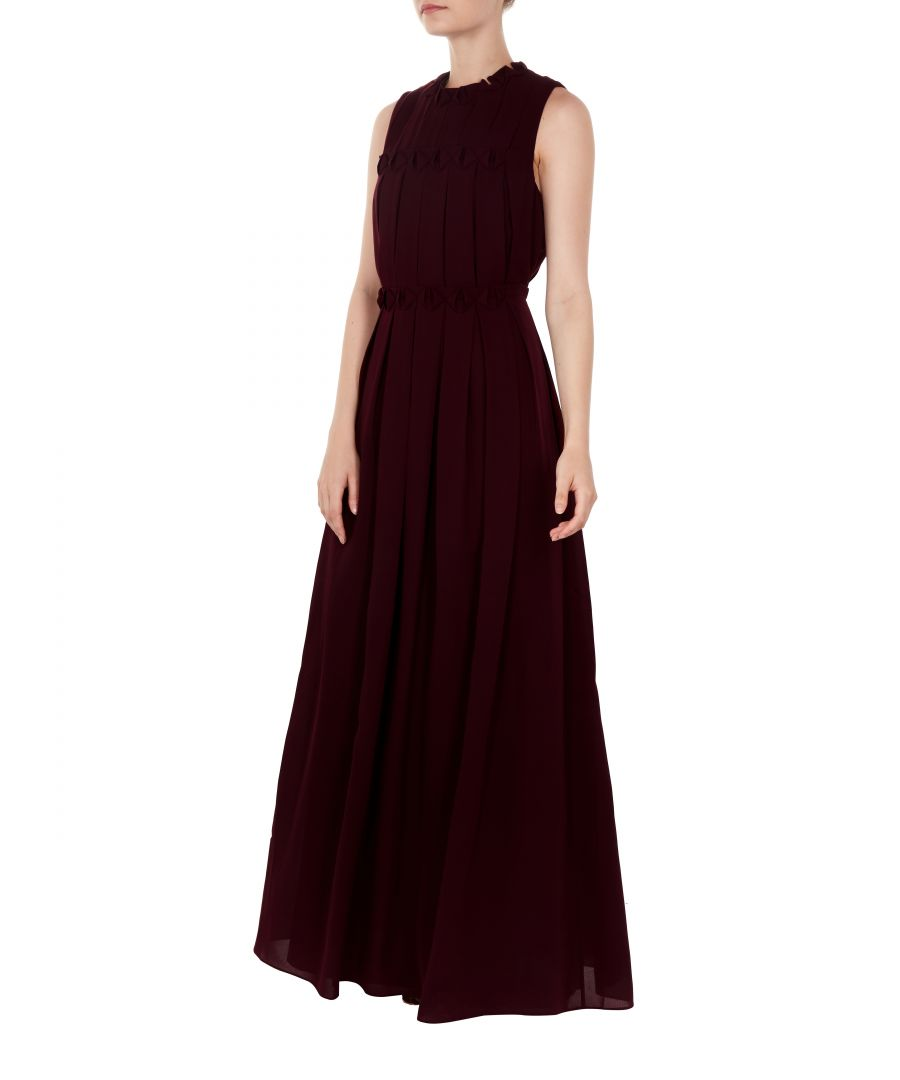 Image for Ted Baker Saffrom Origami Folded Maxi Dress, Maroon