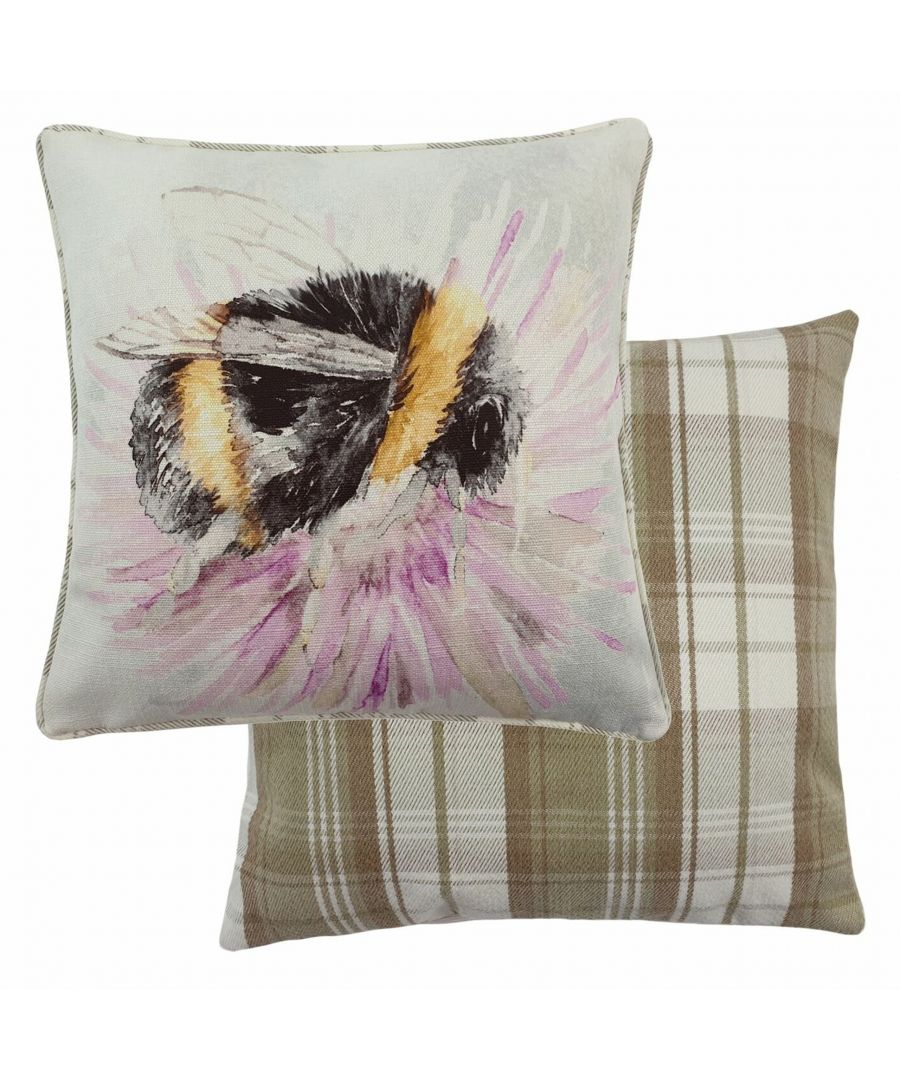 Image for Watercolour Bee Cushion