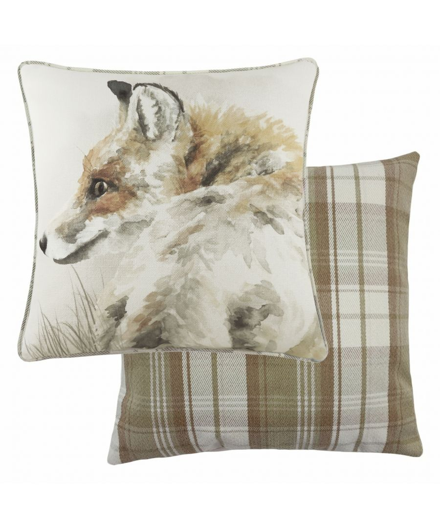 Image for Watercolour Fox Cushion