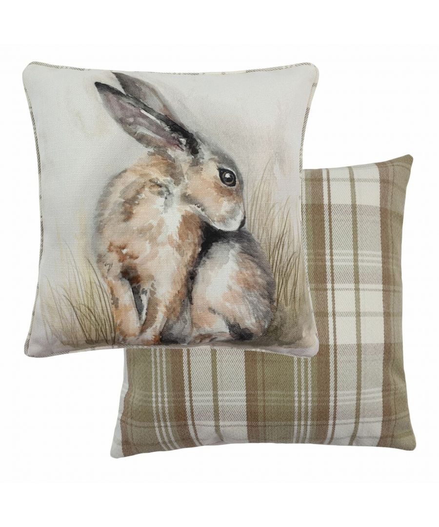 Image for Watercolour Hare Cushion