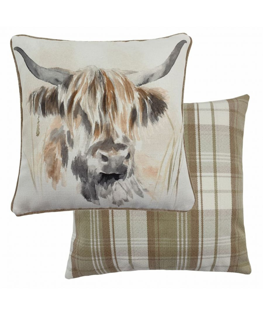 Image for Watercolour Highland Cow Cushion