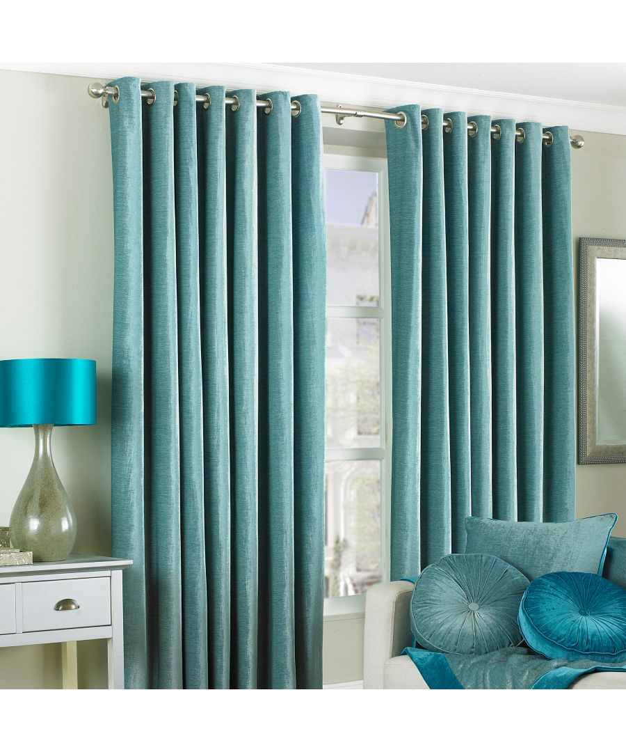 Image for Wellesley Velvet Feel Eyelet Curtains in Duck Egg Blue