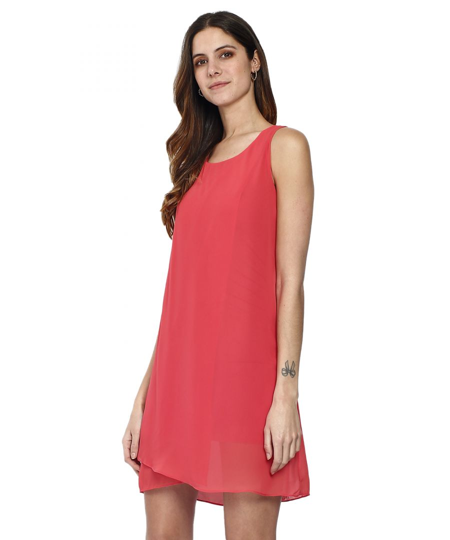 Image for William de Faye Short Sleeveless Dress with Zipper At The Back