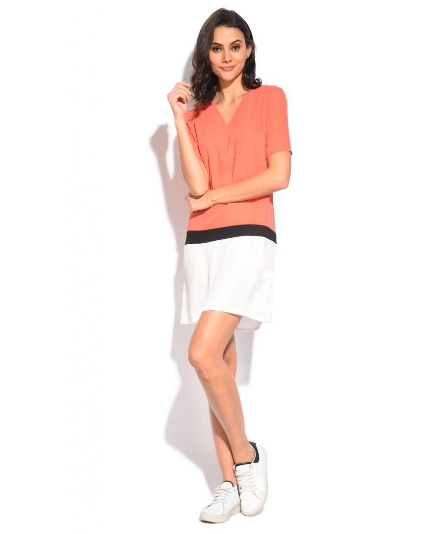 Image for William de Faye Tri-Color V-Neck Short Dress