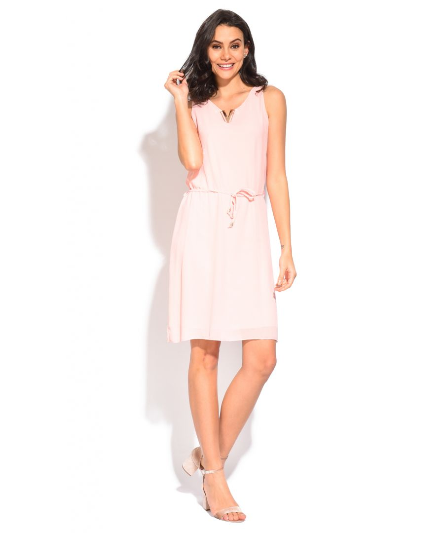 Image for William de Faye Lined Short Dress with Accessorized Round Collar & Belt
