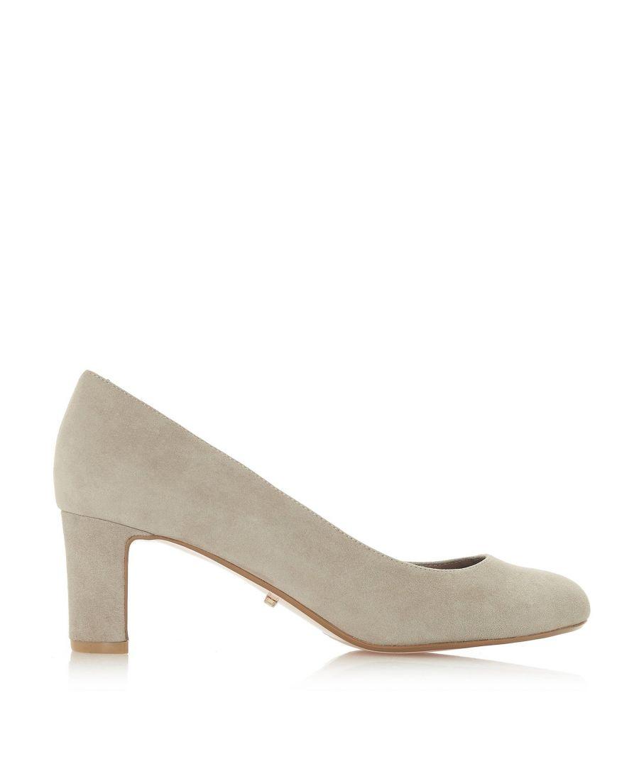 Image for Dune Ladies WF ADDENA Wide Fit Mid Block Heel Court Shoes