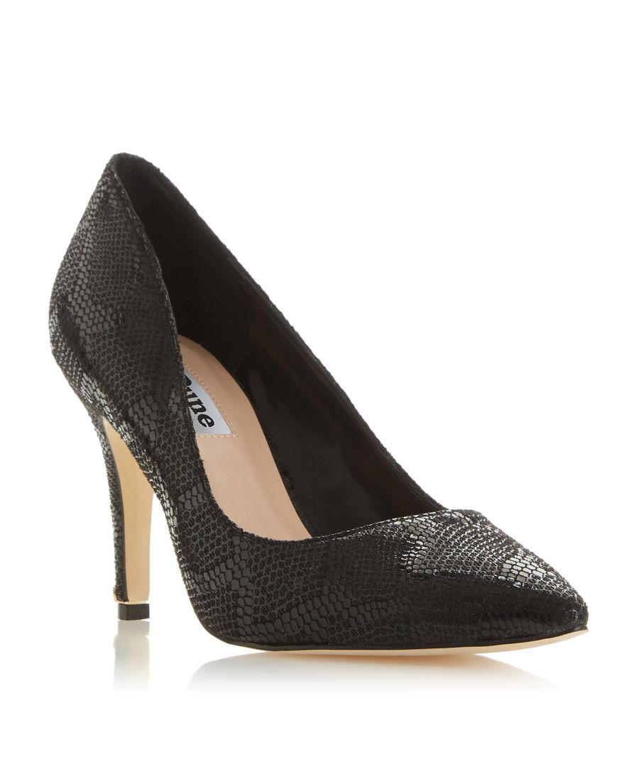 Image for Dune Ladies WF ANNA Wide Fit Croc-Effect Court Shoe