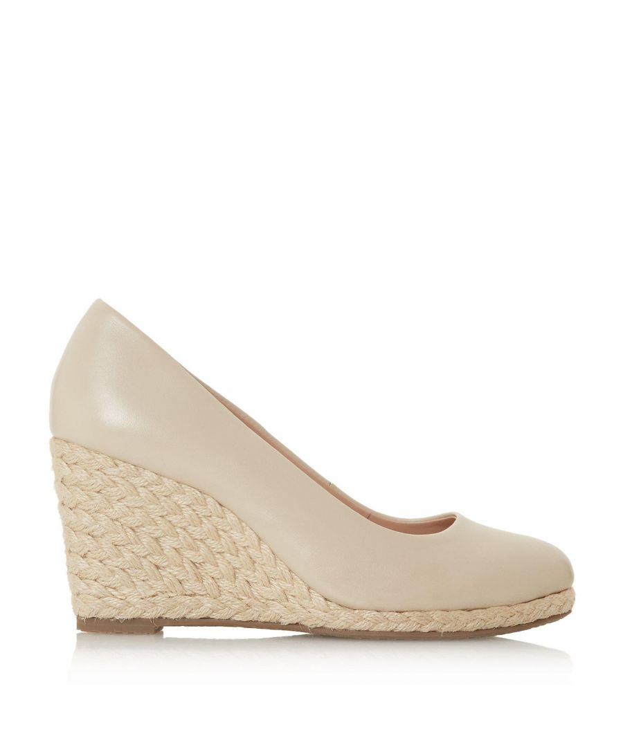 Image for Dune Ladies WF ANNABELS Wide Fit Wedge Heel Espadrille Shoes