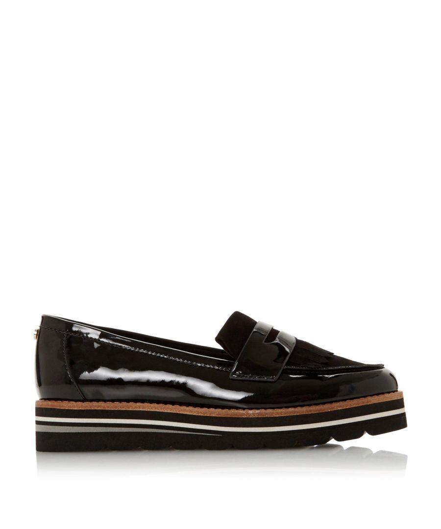 Image for Dune Ladies WF GRACELLA Wide Fit Flatform Loafer