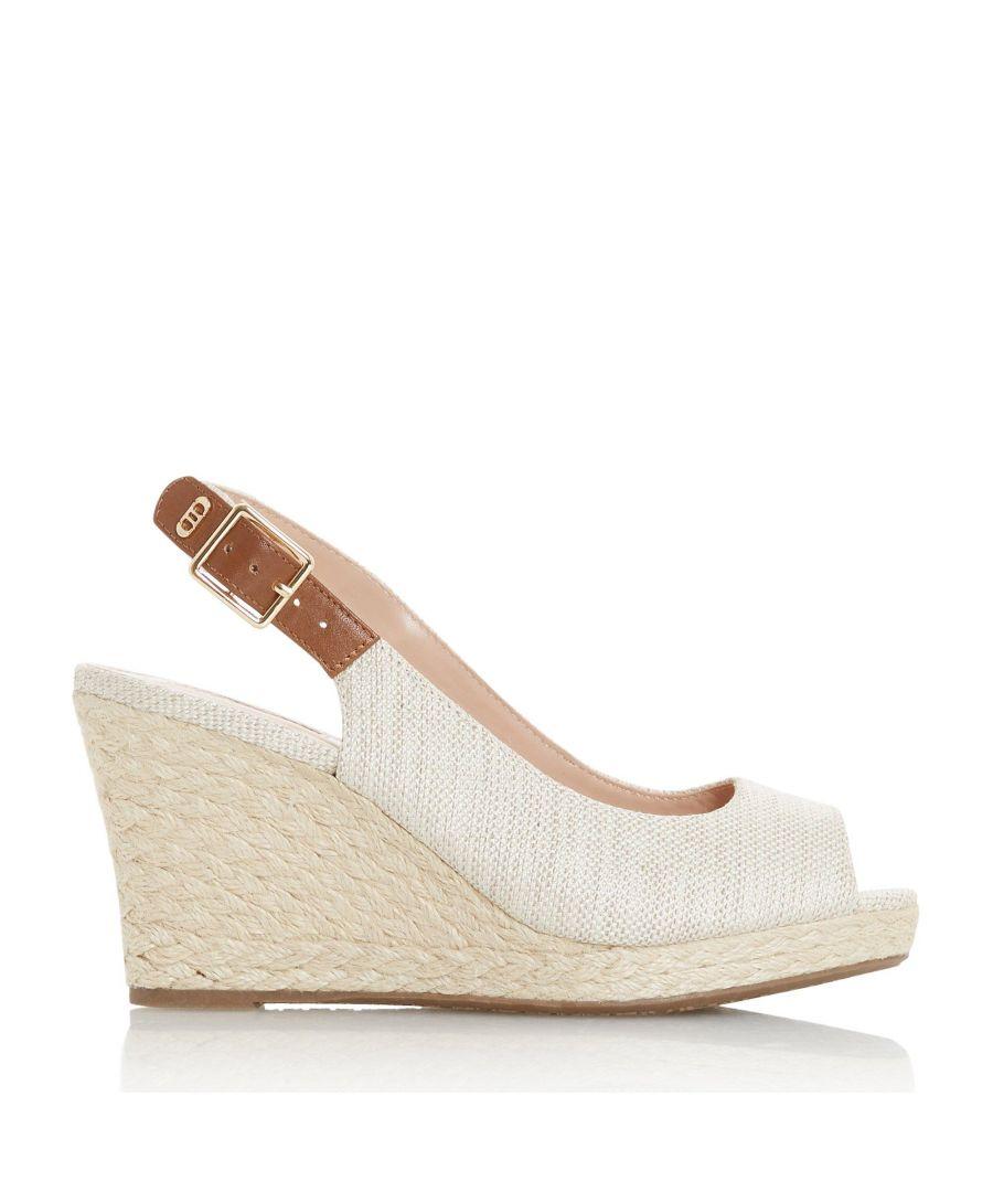 Image for Dune Ladies WF KICKS 2 Wide Fit Wedge Heel Sandals