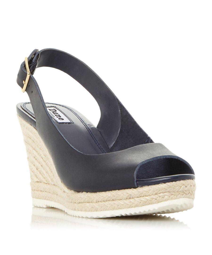 Image for Dune Ladies WF KNOX 2 Wide Fit Wedge Heel Espadrille Sandal