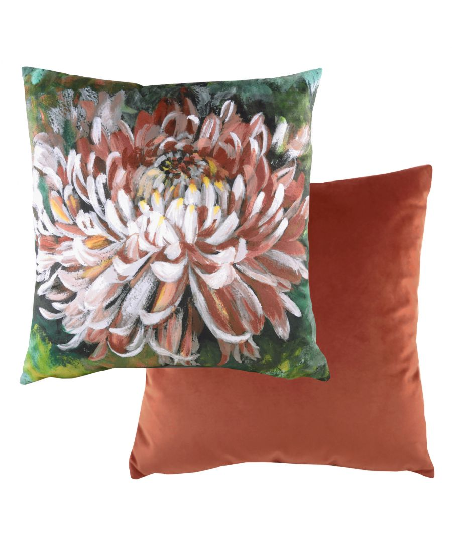Image for Winter Florals Chrysanthemum Cushion