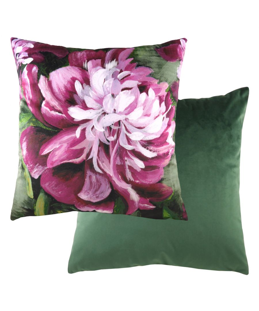 Image for Winter Florals Peony Cushion