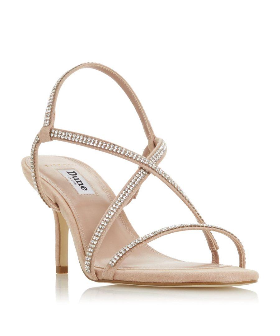 Image for Dune Ladies WF MOTO Wide Fit Cross-Over Strap Stiletto Heel Sandal