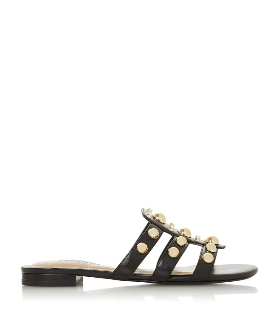 Image for Dune Ladies WF NELL Wide Fit Stud Embellished Mule Sandals
