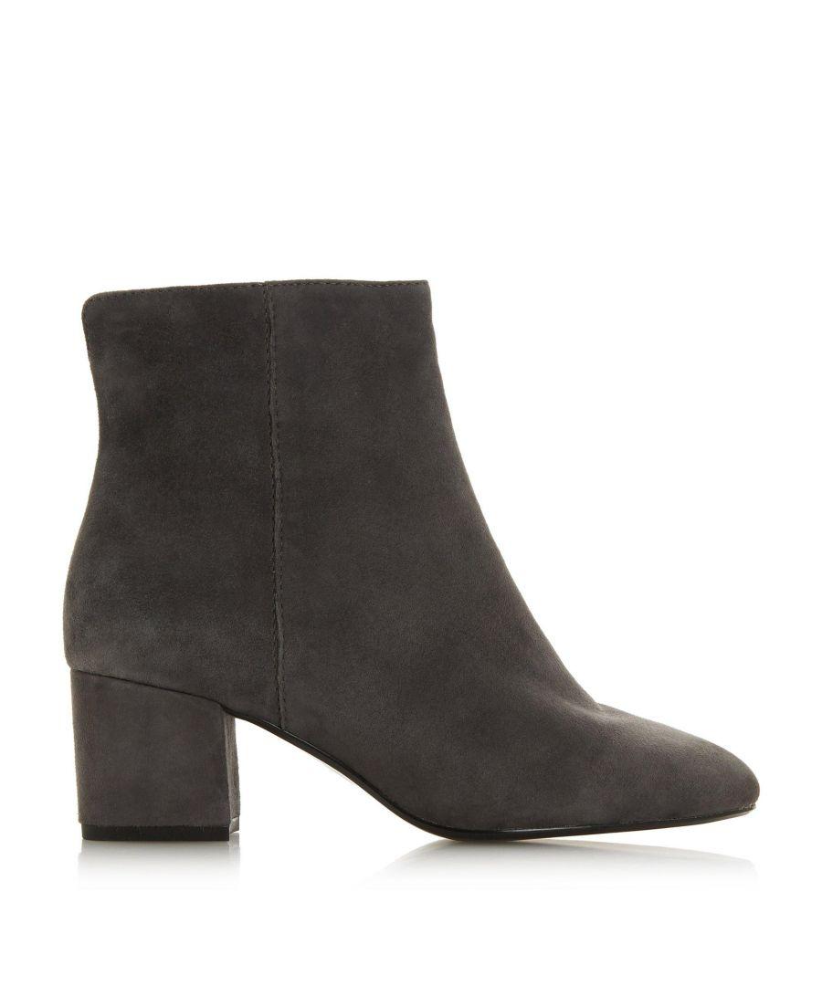 Image for Dune Ladies WF OLYVEA Wide Fit Mid Heel Ankle Boots