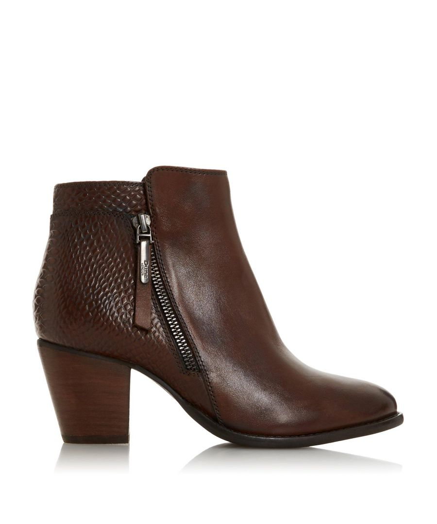 Image for Dune Ladies WF PONNTOON Wide Fit Side Zip Ankle Boots