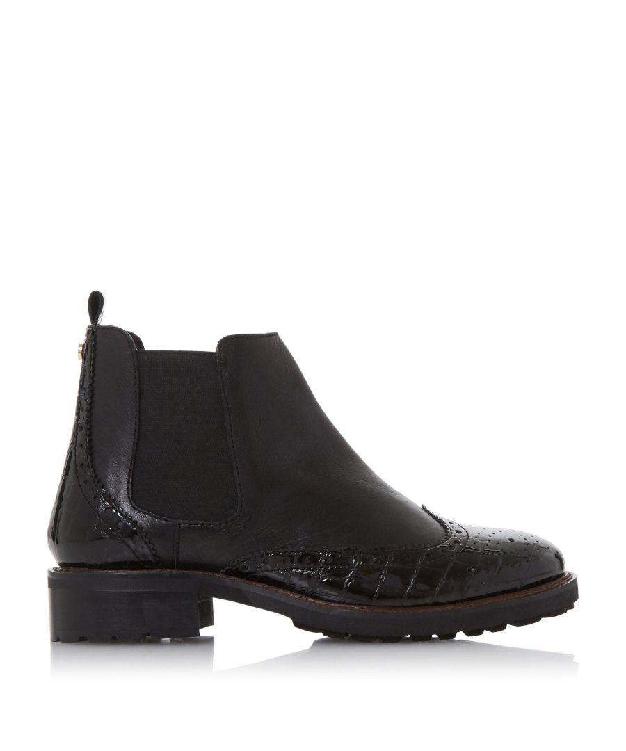 Image for Dune Ladies WF Quarters Wide Fit Heel Chelsea Boots