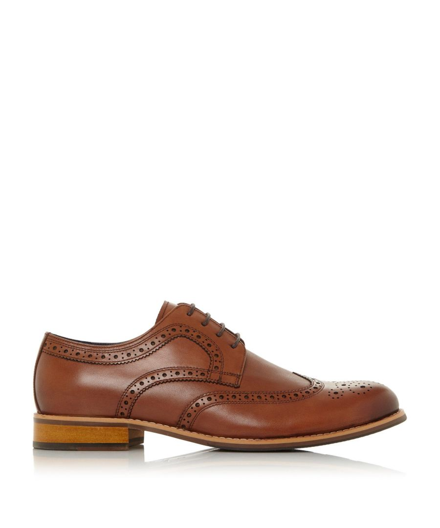Image for Dune Mens WF RAIDCLIFFE Wide Fit Lace Up Brogue
